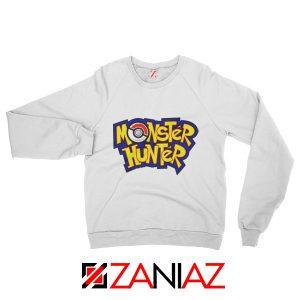 Monster Hunter Pokemon Sweatshirt Pocket Monsters Sweatshirt White