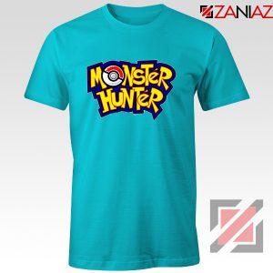 Monster Hunter Pokemon T-Shirt Pocket Monsters T-shirt Size S-3XL Light Blue