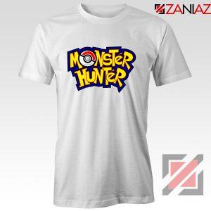 Monster Hunter Pokemon T-Shirt Pocket Monsters T-shirt Size S-3XL White