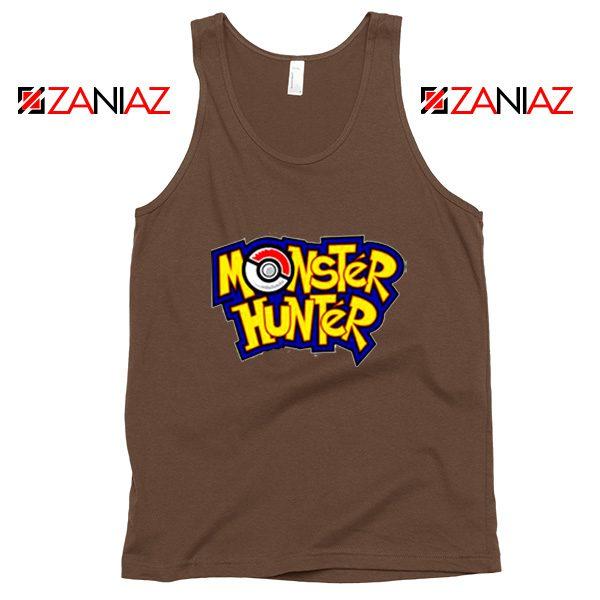 Monster Hunter Pokemon Tank Top Pocket Monsters Tank Top Brown