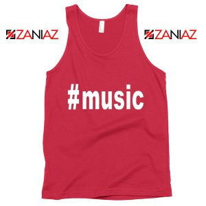 Music Hashtag Best Tank Top Music Women's Tank Top Size S-3XL Red