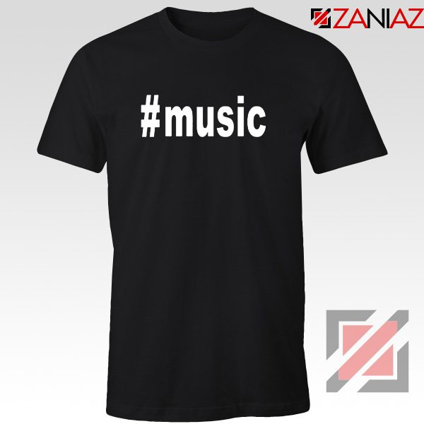 Music Hashtag Best Tshirt Music Women's T-Shirts Size S-3XL Black