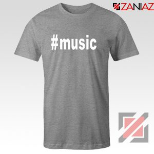 Music Hashtag Best Tshirt Music Women's T-Shirts Size S-3XL Grey