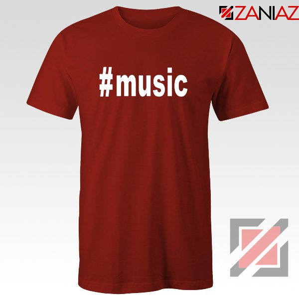 Music Hashtag Best Tshirt Music Women's T-Shirts Size S-3XL Red