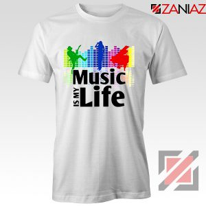 Music is My Life T-Shirt Nightclubs Music Cheap Tee Shirt Size S-3XL White