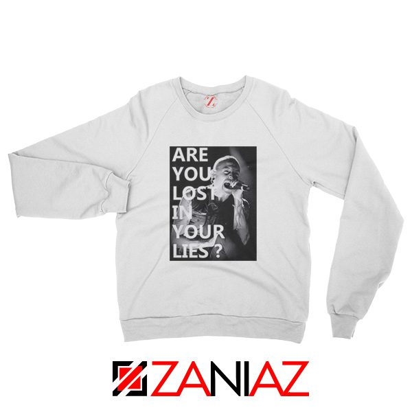No More Sorrow Lyric Sweatshirt Linkin Park Best Sweatshirt Size S-2XL White