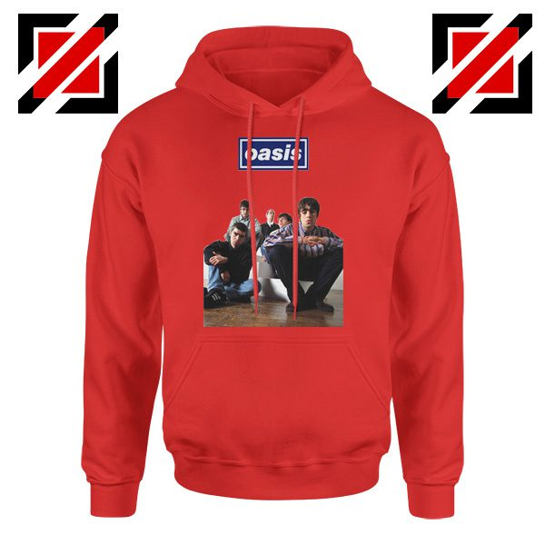 Oasis Band Members Hoodie Oasis Music Band Hoodie Size S-2XL Red