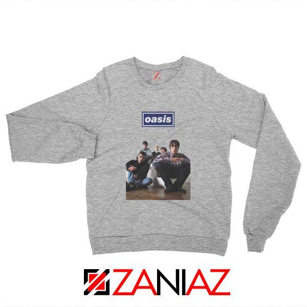 Oasis Band Members Sweatshirt Oasis Music Band Sweatshirt Grey