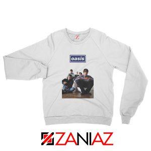 Oasis Band Members Sweatshirt Oasis Music Band Sweatshirt White