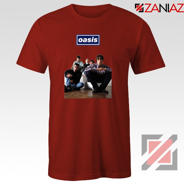 Oasis Band Members T-Shirts Oasis Music Band T-Shirts Size S-3XL Red