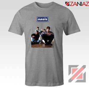 Oasis Band Members T-Shirts Oasis Music Band T-Shirts Size S-3XL Sport Grey