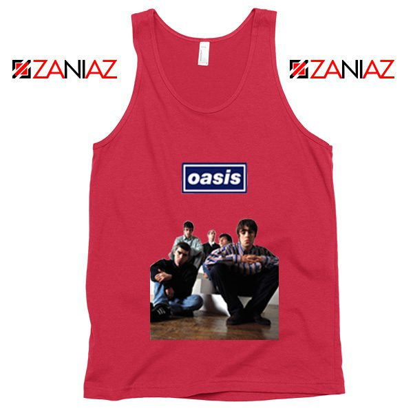 Oasis Band Members Tank Top Oasis Music Band Tank Top Size S-3XL Red