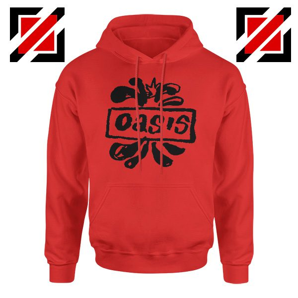 Oasis English Rock Band Hoodie Oasis Band Cheap Hoodie Size S-2XL Red