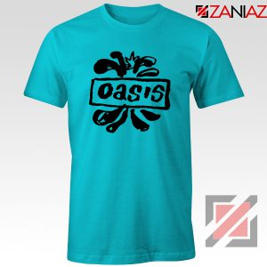 Oasis English Rock Band T-Shirts Oasis Band Cheap T-Shirts Size S-3XL Light Blue