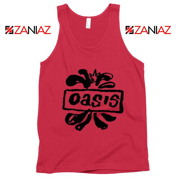 Oasis English Rock Band Tank Top Oasis Band Tank Top Size S-3XL Red