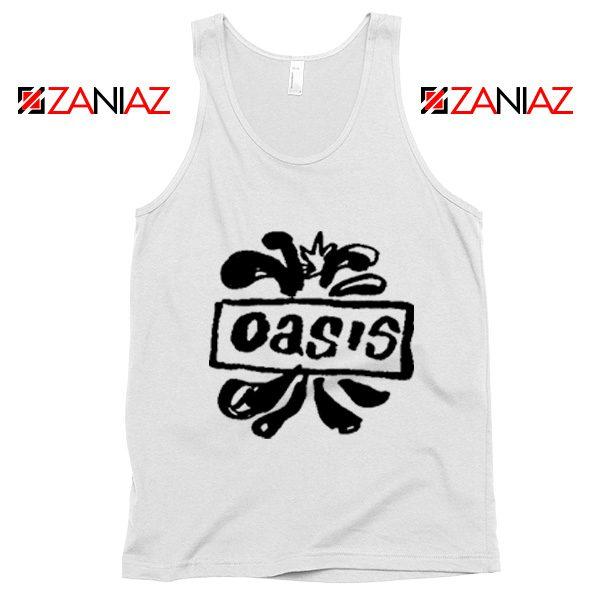 Oasis English Rock Band Tank Top Oasis Band Tank Top Size S-3XL White