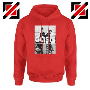 Oasis Music Rock Band Hoodie Oasis UK Band Hoodie Size S-2XL Red