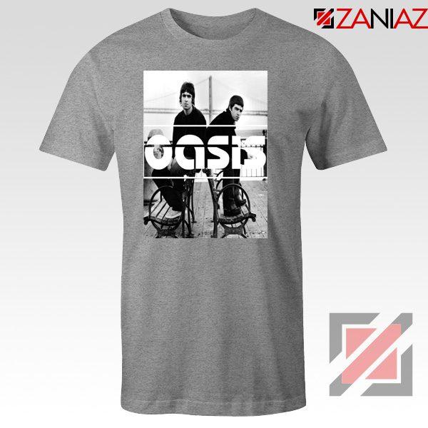 Oasis Music Rock Band Tee Shirt Oasis UK Band T-Shirt Size S-3XL Sport Grey