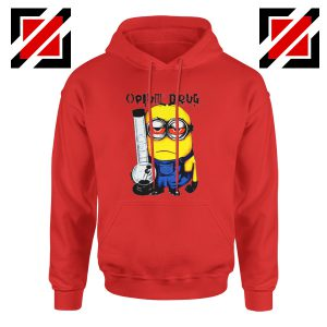 Opium Drug Minion Hoodie Funny Minion Hoodie Size S-2XL Red