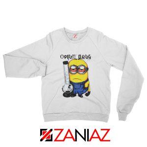 Opium Drug Minion Sweatshirt Funny Minion Sweatshirt Size S-2XL White