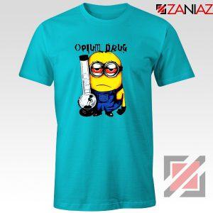 Opium Drug Minion T-Shirts Funny Minion Tee Shirt Size S-3XL Light Blue