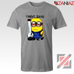 Opium Drug Minion T-Shirts Funny Minion Tee Shirt Size S-3XL Sport Grey