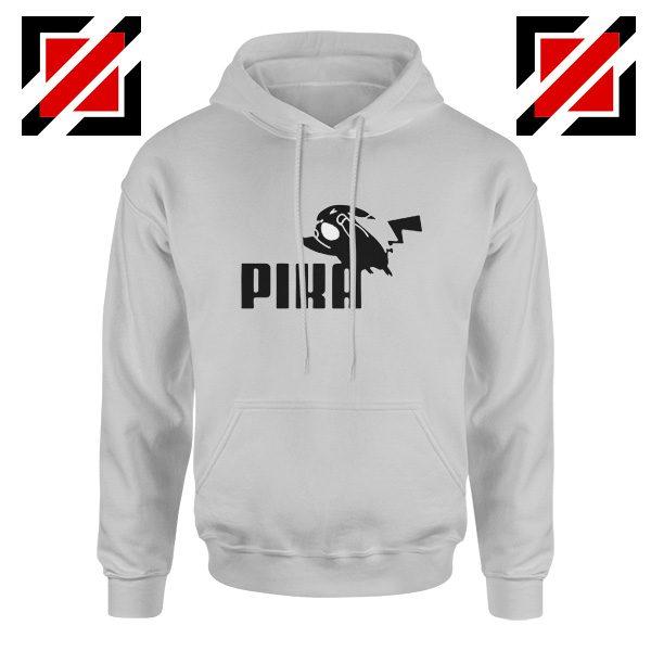 Pika Hoodie Pokemon and Puma Parody Best Hoodie Size S-2XL Sport Grey