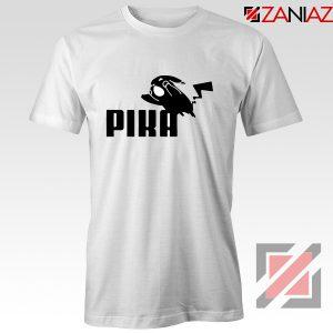Pika T-Shirt Pokemon and Puma Parody Cheap T-shirt Size S-3XL White