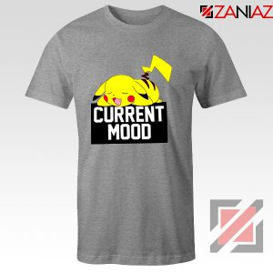 Pokemon Pikachu Current Mood Adult Best T-Shirt Size S-3XL Sport Grey
