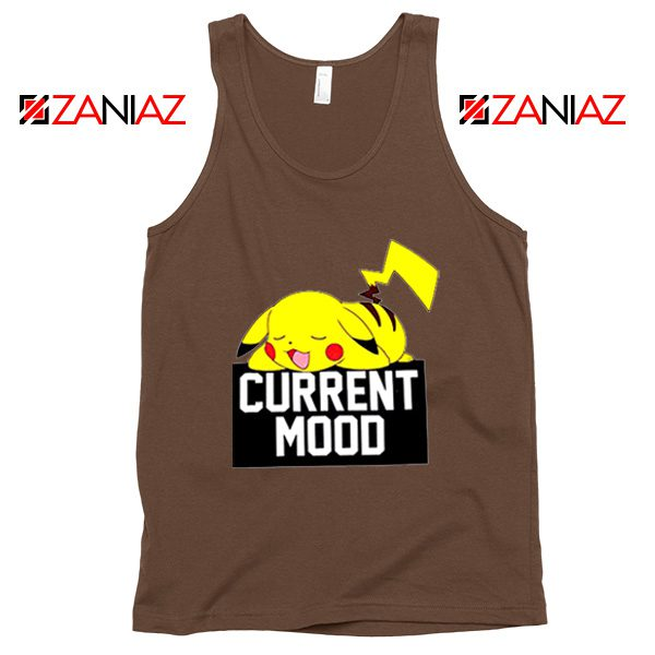 Pokemon Pikachu Current Mood Adult Best Tank Top Size S-3XL Brown