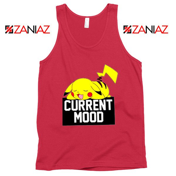 Pokemon Pikachu Current Mood Adult Best Tank Top Size S-3XL Coral