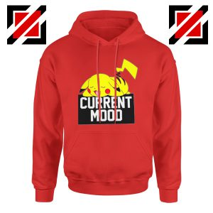 Pokemon Pikachu Current Mood Adult Cheap Best Hoodie Size S-2XL Red