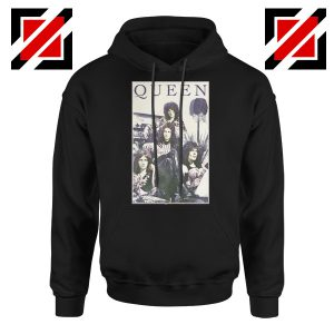 Queen Band Frame Hoodie Music Rock Band Hoodie Size S-2XL Black