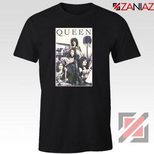 Queen Band Frame T-shirt Music Rock Band T-shirt Size S-3XL Black