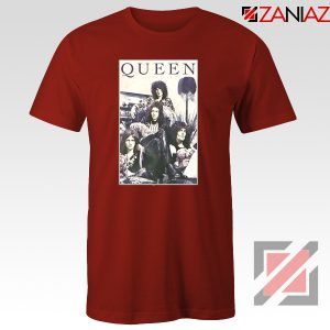 Queen Band Frame T-shirt Music Rock Band T-shirt Size S-3XL Red