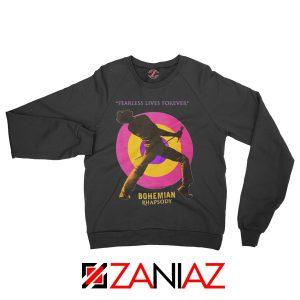 Queen Fearless Sweatshirt Queen Rock Band Sweatshirt Size S-2XL Black