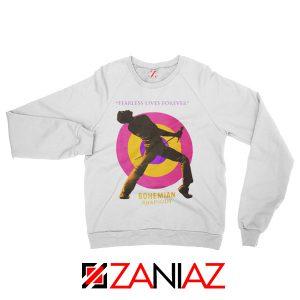 Queen Fearless Sweatshirt Queen Rock Band Sweatshirt Size S-2XL White