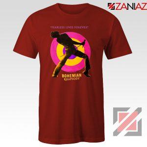 Queen Fearless T-shirt Queen Rock Band T-Shirt Size S-3XL Red