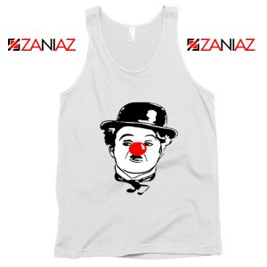 Red Nose Day Charlie Chaplin Tank Top Comic Relief Tank Top Size S-3XL White