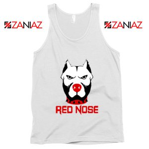 Red Nose Day Pitbull Dog Tank Top Comic Relief Tank Top Size S-3XL White