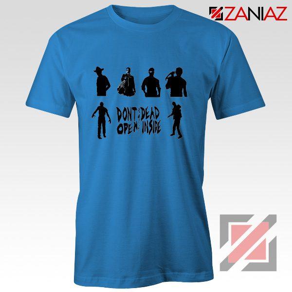 Rick Negan Tshirt The Walking Dead TV Series Tee Shirt Size S-3XL Blue