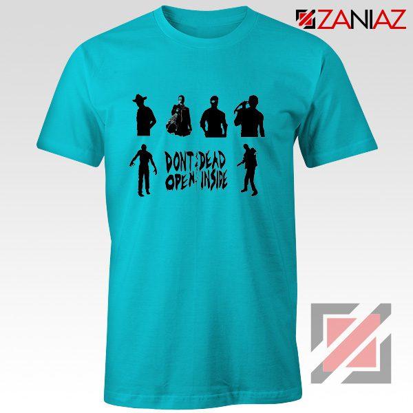 Rick Negan Tshirt The Walking Dead TV Series Tee Shirt Size S-3XL Light Blue