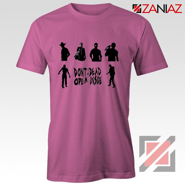 Rick Negan Tshirt The Walking Dead TV Series Tee Shirt Size S-3XL Pink