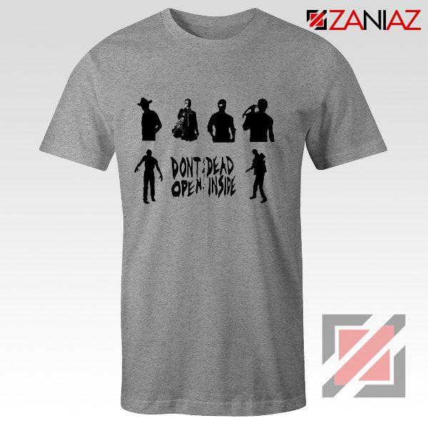 Rick Negan Tshirt The Walking Dead TV Series Tee Shirt Size S-3XL Sport Grey