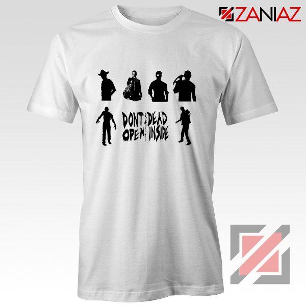 Rick Negan Tshirt The Walking Dead TV Series Tee Shirt Size S-3XL White