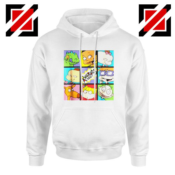 Rugrats Character Grid Hoodie Televion Series Hoodie Size S-2XL White