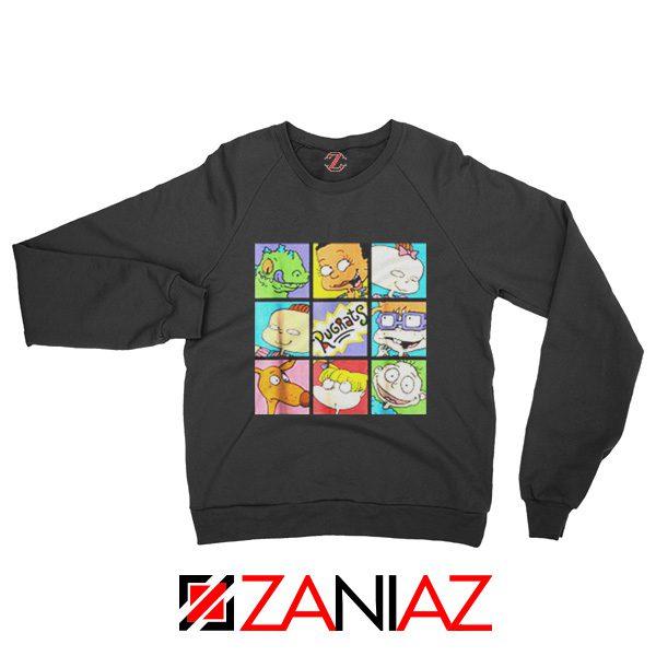 Rugrats Character Grid Sweatshirt Televion Series Sweatshirt Size S-2XL Black