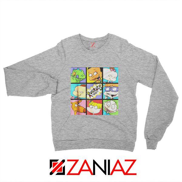 Rugrats Character Grid Sweatshirt Televion Series Sweatshirt Size S-2XL Grey