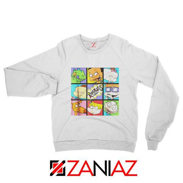 Rugrats Character Grid Sweatshirt Televion Series Sweatshirt Size S-2XL White
