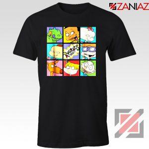 Rugrats Character Grid T-Shirt Televion Series T-Shirt Size S-3XL Black